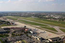L'Aeroporto Marconi visto dall'alto