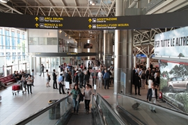 Check-in area: view
