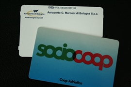 Coop card with parking ticket