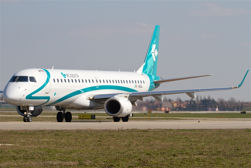 Air Dolomiti plane at Bologna Airport