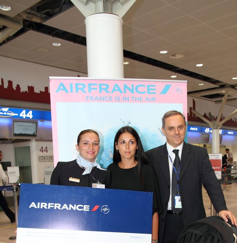 Passeggera premiata da Air France